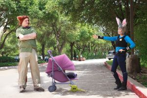 The hard way: Judy and Nick Zootopia Cosplay by firecloak