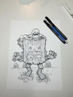 Inktober 24: The Possessed Log by nickv47