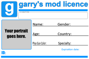 Gmod Licence template by TBWinger92