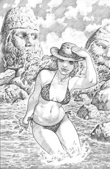 GOLD DIGGER pin-up pencils by AdamWarren