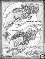 Antigrav bike: Page 30 of a conceptual sketchbook by Stormcrow135