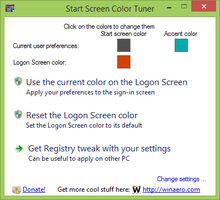 Start Screen Color Tuner for Windows 8.1 by hb860