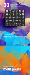 30 Low-Poly / Polygonal Photoshop Brushes by env1ro