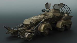 Squad support vehicle -front by Darkki1
