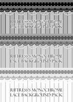 Monochrome Lace Background Pack by Riftress