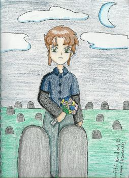 Dimitri at his parents grave by DRei-chan