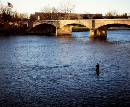 Grand River Fisherman by hell-on-a-stick