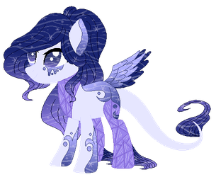 :CLOSE: Sparkling Water Sea Glass Pony Adoptable 2 by WishingWellBro