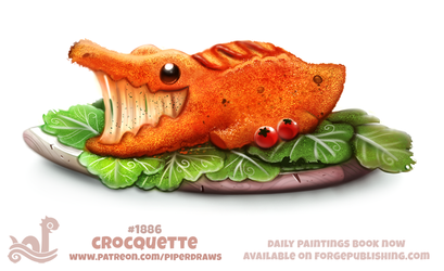 Daily Paint 1886# Crocquette by Cryptid-Creations