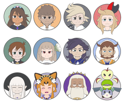 Miscellaneous Bravely Series Stickers by XEmoMidnaX