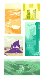 Tabletop Campaign Location thumbnails by janeesper