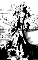 My Angel Rests Her Wings by Azulla-00