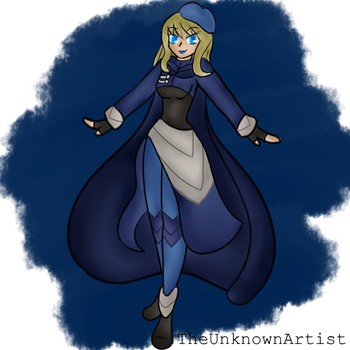 (AT) - Beauty In A Blue Cape by itachiXsyla