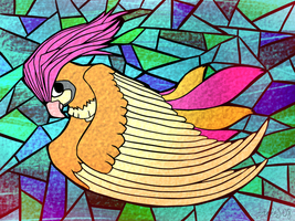 Stained Glass Pidgeotto