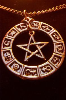 zodiac pentacle by ElwynDivine
