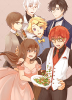 Mystic Messenger: LET'S EAT! by Haiyun