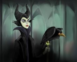 Maleficent by andreabriones
