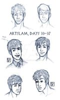 Artslam: Muse Day 33-37 by KabochaN
