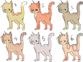 Cat Adoptables /STILL OPEN/ by saeshells