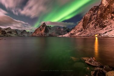 Aurora at Reine by Stridsberg