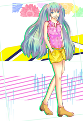 Summer Miku by Chowing