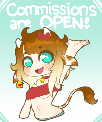 COMMISSIONS ARE OPEN! by MeowImaCow