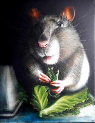 Uminum mouse - oil painting on canvas, 40cmx50cm by SimonaFilipH