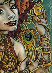 Tribal Fusionista - ACEO by sphinxmuse