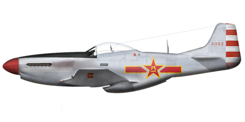 P-51K-10-NT 'Red 3032' - PLAAF (1949) by graphicamechanica