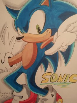 Sonic the hedgehog by iikelyons98