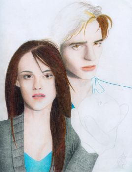 Twilight, Ed n Bella WIP 2 by RoseOnyxis