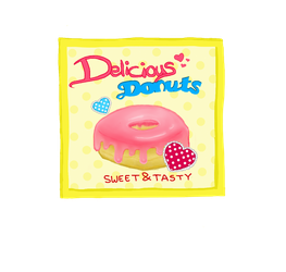 Retro Donuts, the sweetest in town by Blossomleafstylez