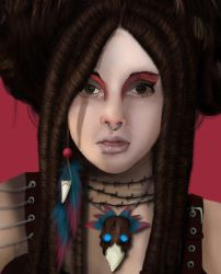Voodoo Child Close Up by missimoinsane