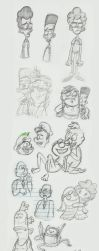 Sketches: Cartoons by vegetablejelly