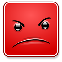 Square Smiley - Angry by mondspeer