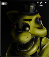 Golden Freddy by VonVoski