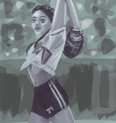 Softball pitcher speed painting  by Exile-062