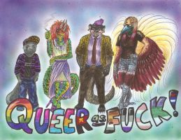 Queer As Fuck by randomflyingpigeons
