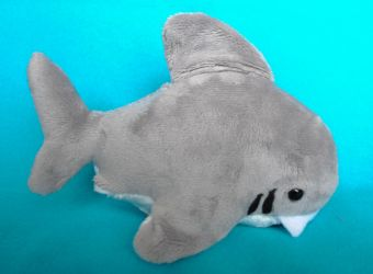 Shark Plushie by radtastical