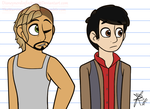 More New Characters (Victor and Alex) by Infinity-Drawings