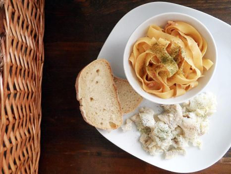 Pasta with cod and cod with lemon by kivrin82