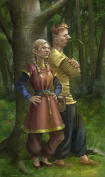 Aljona and Ivan by Kallasch