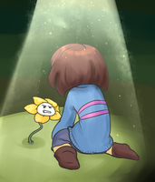 Frisk and Flowey by Unlucky-day-for-Fay