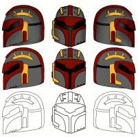 Mandalorian helm design by scampy001