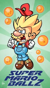 Super Mario Ball Z by BezerroBizarro