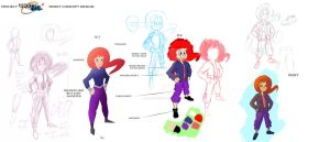 Project rocket girl all character concept by IDROIDMONKEY