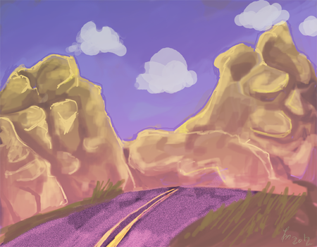 Quick background by Laura-the-animator
