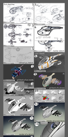 Design of a drone concept tutorial by TurboSolovey