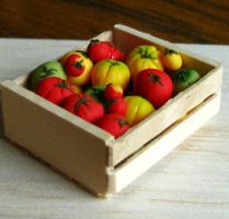 Crate of Tomatoes by fairchildart