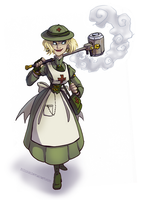 Commission: Steampunk Felixie by Bilious